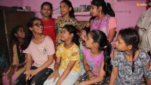 Avantika on a community visit