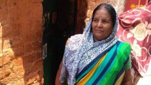 Kamla near her shanty in Asha's Anna Nagar slum community