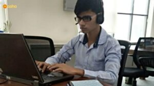 Firoz working at F1F9 during the summer Internship last year