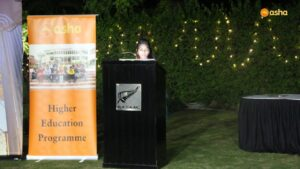 Seema during her speech at New Zealand High Commission