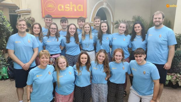 Royal School Armagh visits Asha