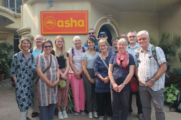 Great Britain team volunteers at Asha