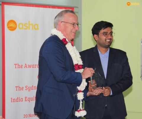 Sydney Scholars India Equity Scholarship awarded to Asha student Abhishek
