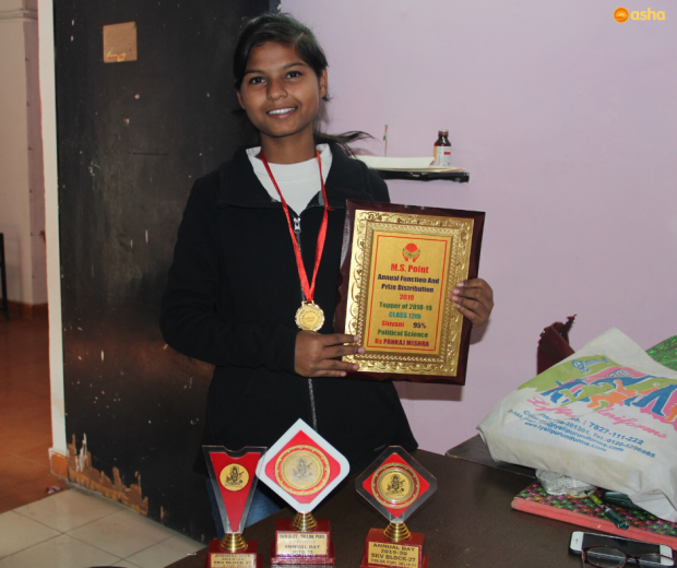 Shivani secures her future through Education