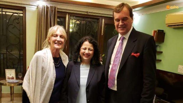 Dr.Kiran Martin and Asha students bid adieu to British High Commissioner Sir Dominic Asquith