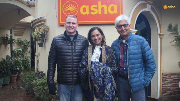 Long-time supporters, Dr. Praveen and Nalini Prasad visit Asha