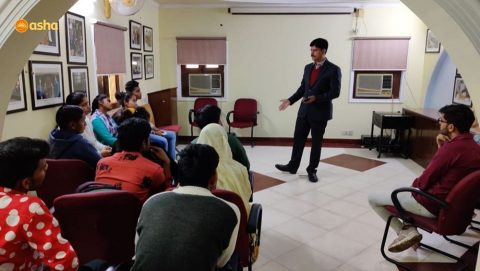 Workshop on Defence Services held for Asha undergraduate students