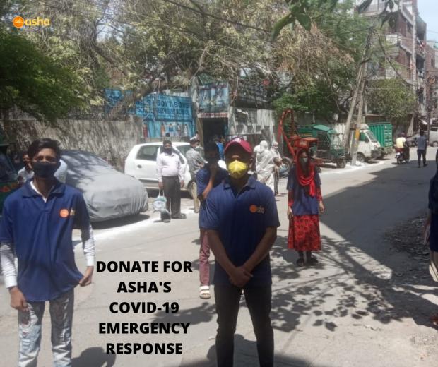 Asha Corona Warriors assist slum dwellers in the Asha slums
