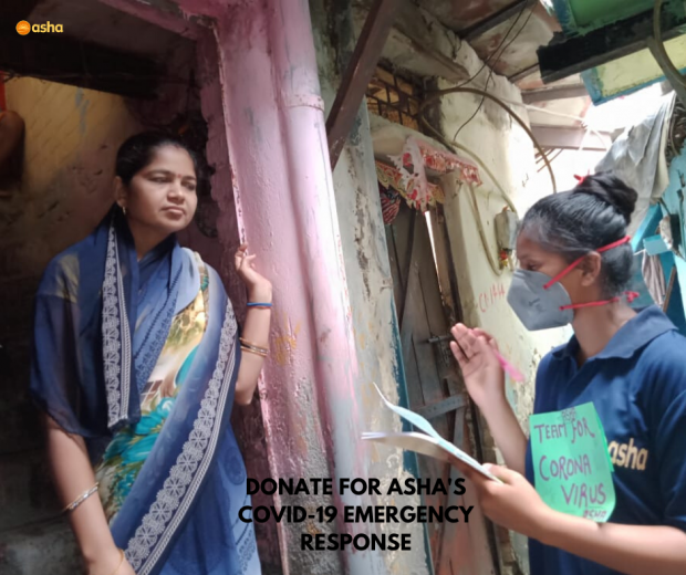 Asha warriors providing relief to Asha communities