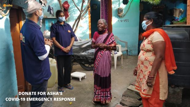 Asha COVID-19 Emergency Response: Asha Warriors spread cheer and comfort in slum homes