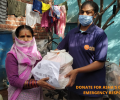 Asha COVID-19 Emergency Response: Asha provides groceries to slum dwellers