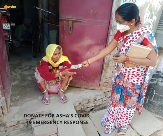 Asha provides relief and funds to slum communities