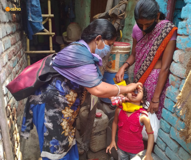 Asha caters to the severe malnutrition children in the slums