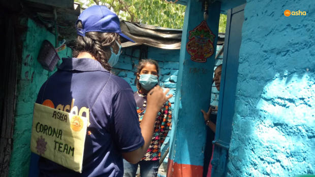 Asha COVID-19 Emergency Response: Asha Corona Warriors continue to comfort and inspire people in slum communities