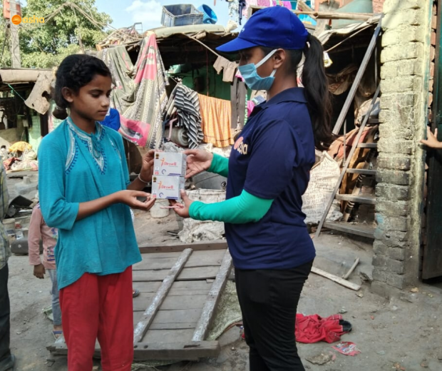 Asha COVID-19 Emergency Response: Asha provides menstrual hygiene products to young girls