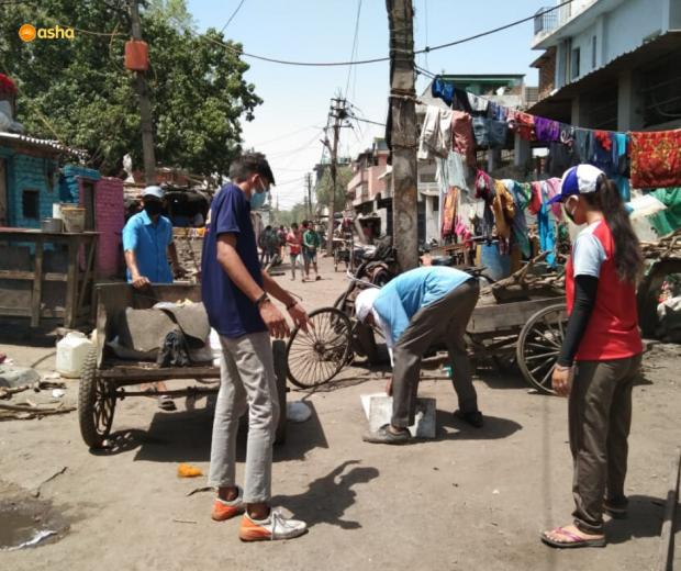 Asha COVID-19 Emergency Response: Asha launches a sanitation drive for all slum communities