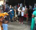 Dr Kiran celebrates her birthday with the Asha family in Safedi Basti slum colony