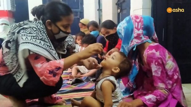 Asha COVID-19 Emergency Response: Asha caters to each child in the Asha slums