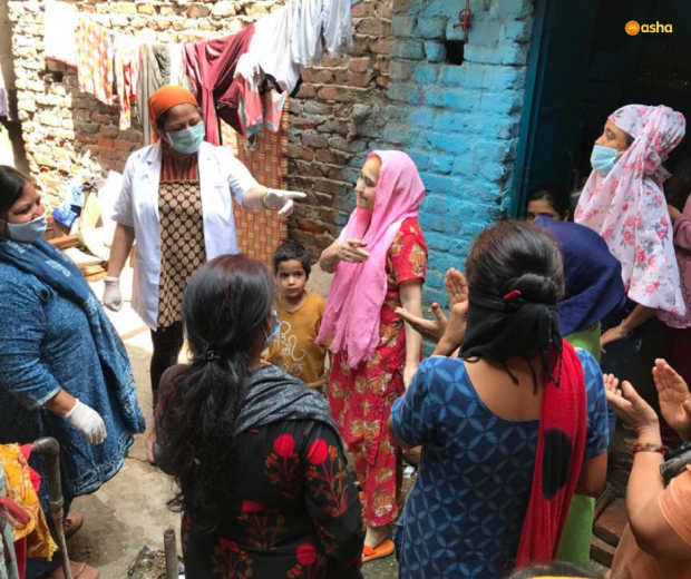 Asha COVID-19 Emergency Response: Asha provides essential groceries to families in Chanderpuri slum community
