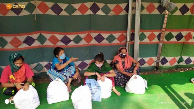 Asha's relief programmes benefit hundreds of homeless Anna Nagar slum residents