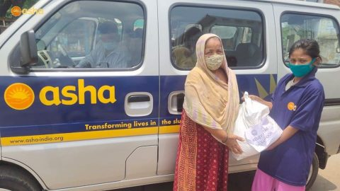 Asha COVID-19 Emergency Response: Asha continues sending food parcels everyday to Asha slums all over the city