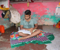 Asha student Vivek- the first student from Kanchan Basti slum who will attend University