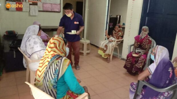 Asha attends to the holistic wellness of the elderly people living in the slums
