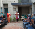 Dr Kiran visits new Asha students in Kalkaji slum community